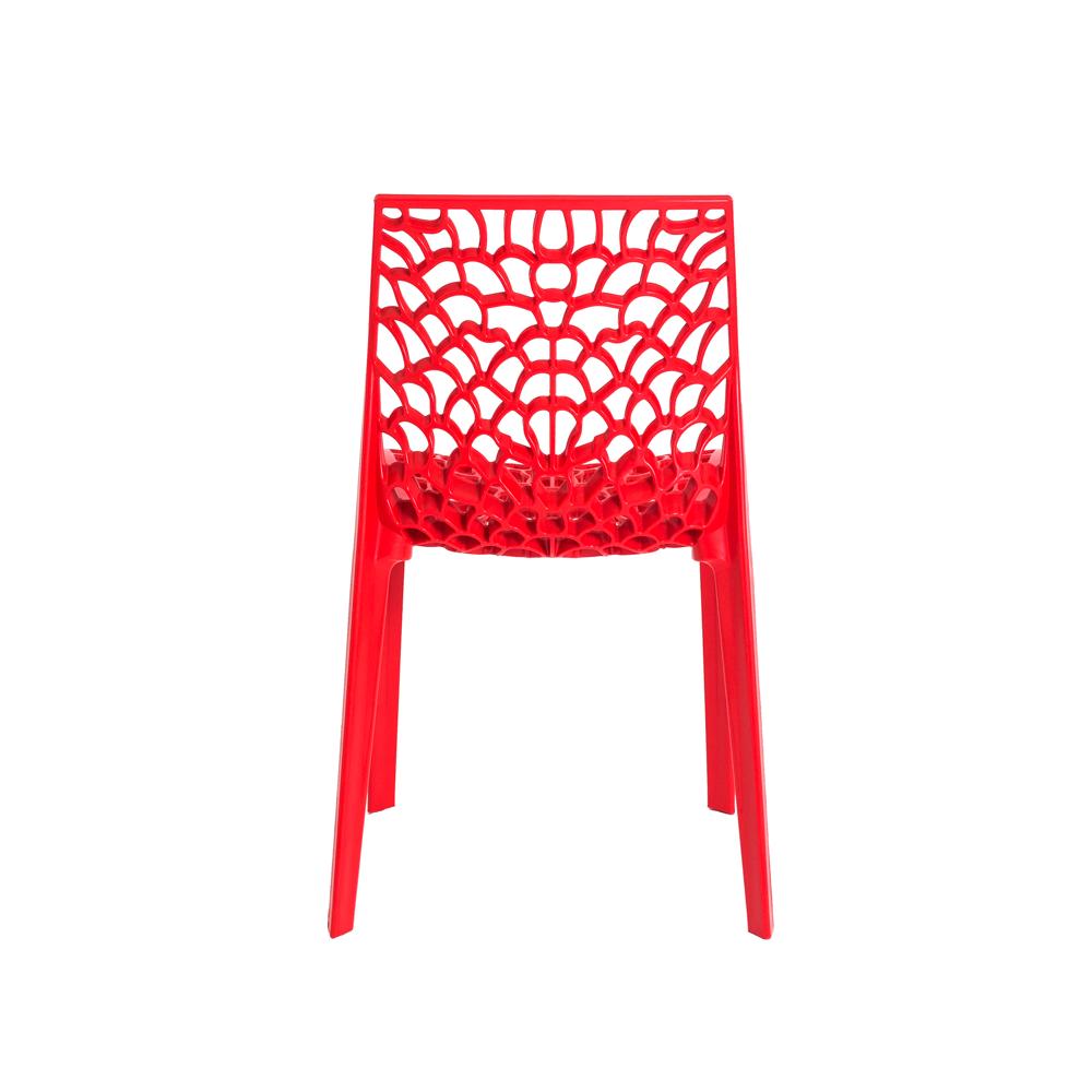Kit 3 Cadeiras De Jantar Gruvyer Design Vermelho Com Inmetro