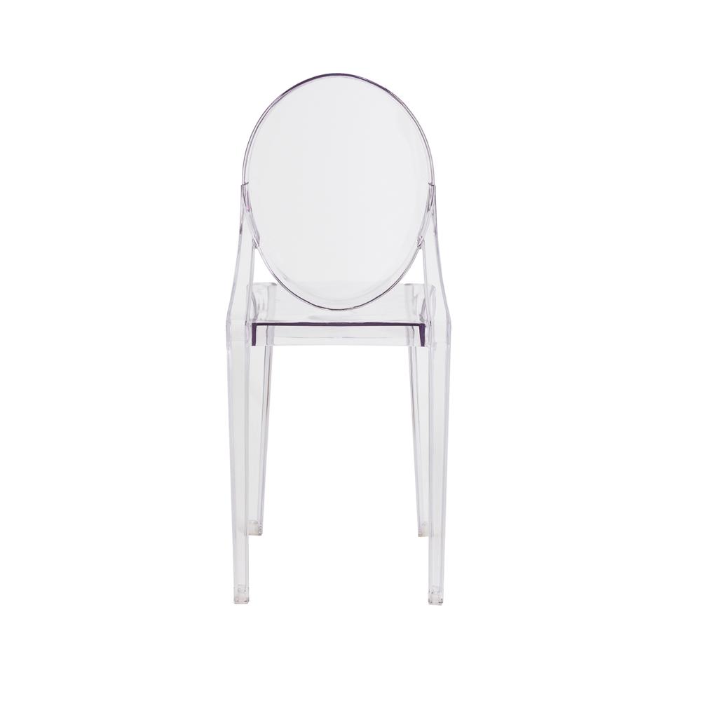 Kit 3 Cadeiras De Jantar Miss Sofia Victoria Ghost Sem Braço Transparente