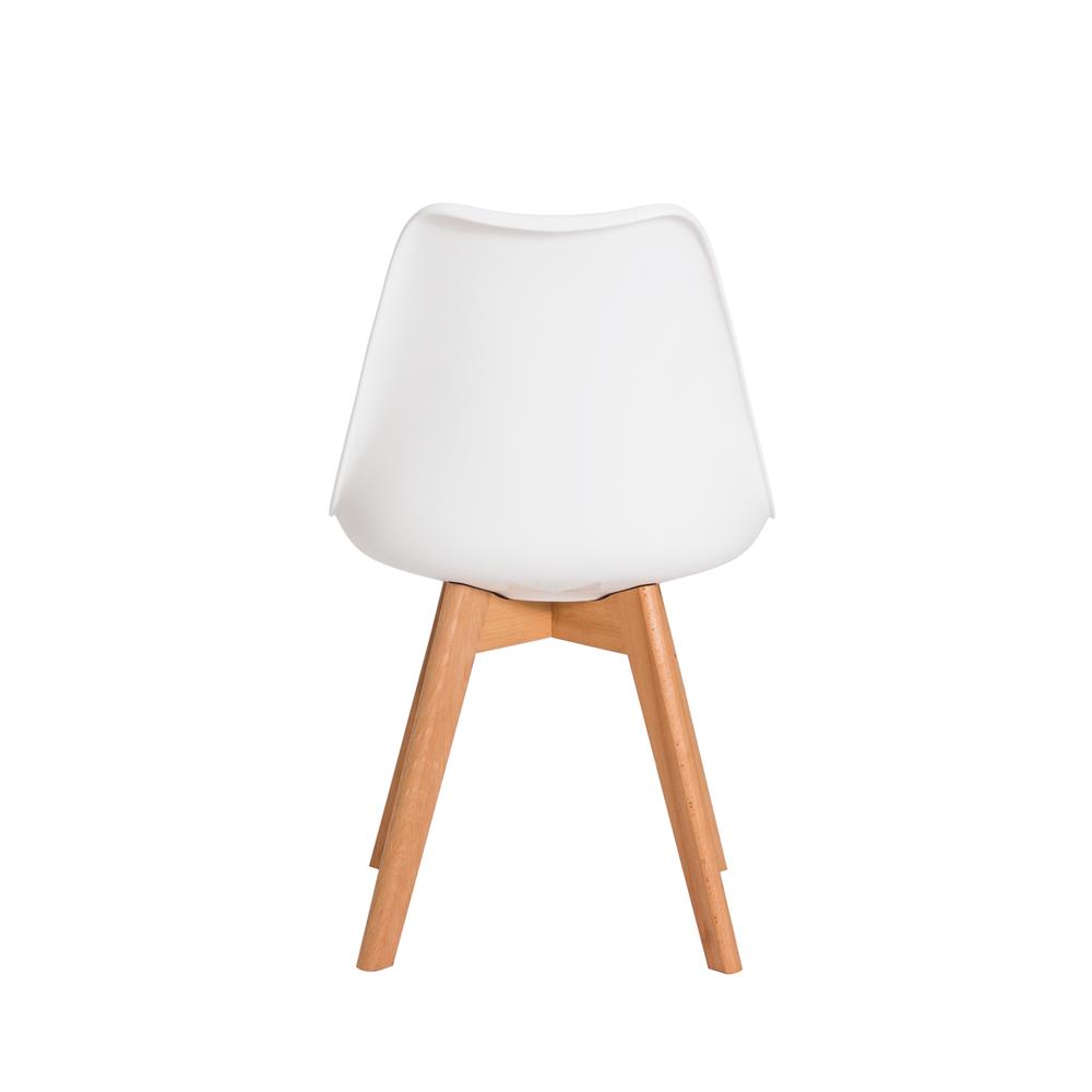 Kit 3 Cadeiras Saarinen Design Leda Branca