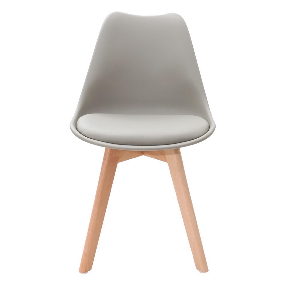 Kit 3 Cadeiras Saarinen Design Leda Cinza
