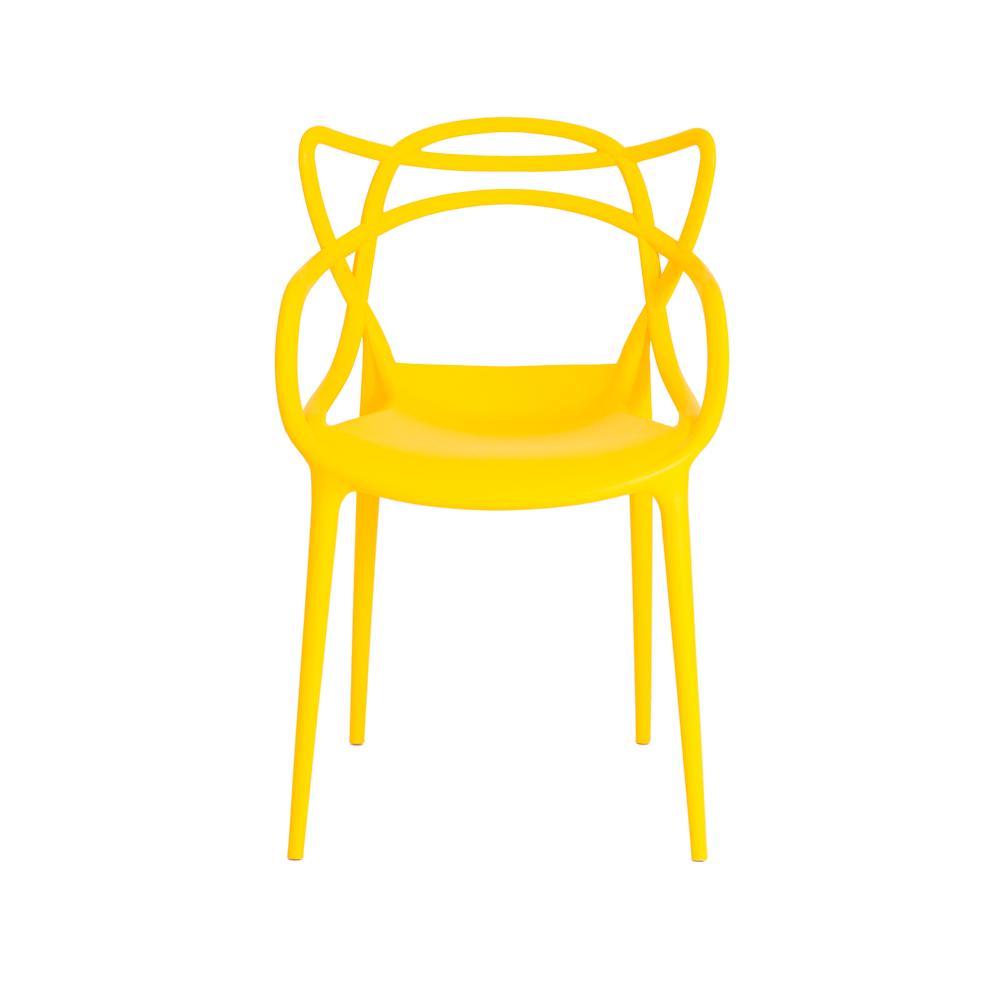 Kit 4 Cadeiras De Jantar Allegra Master Amarelo Com Inmetro