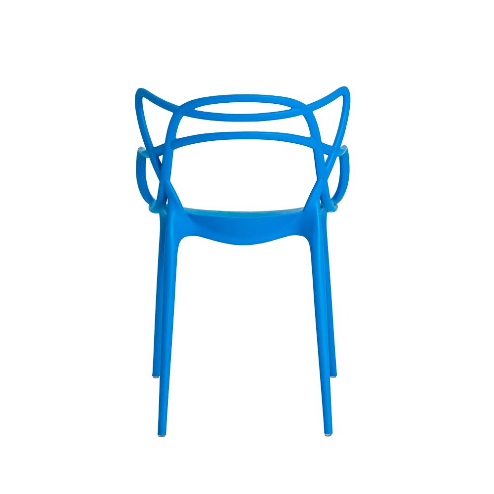 Kit 4 Cadeiras De Jantar Allegra Master Azul Com Inmetro