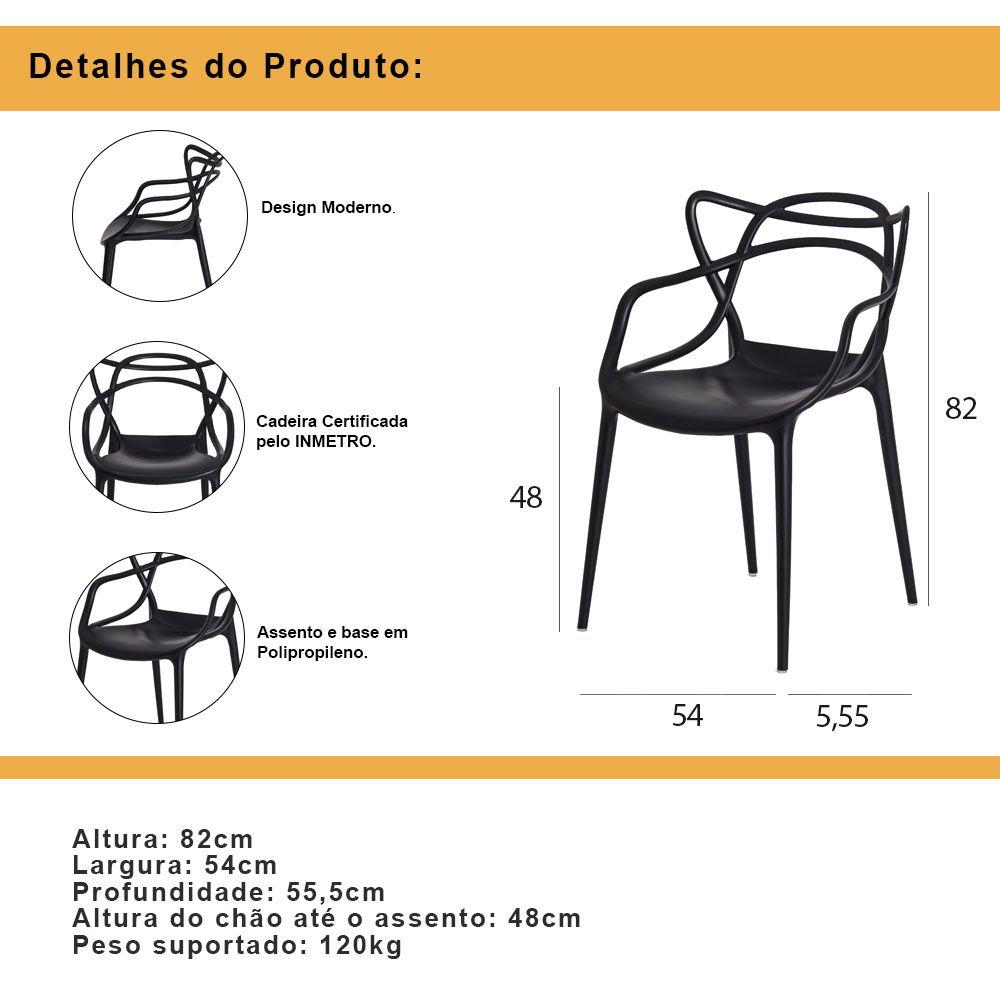 Kit 4 Cadeiras De Jantar Allegra Master Verde Com Inmetro
