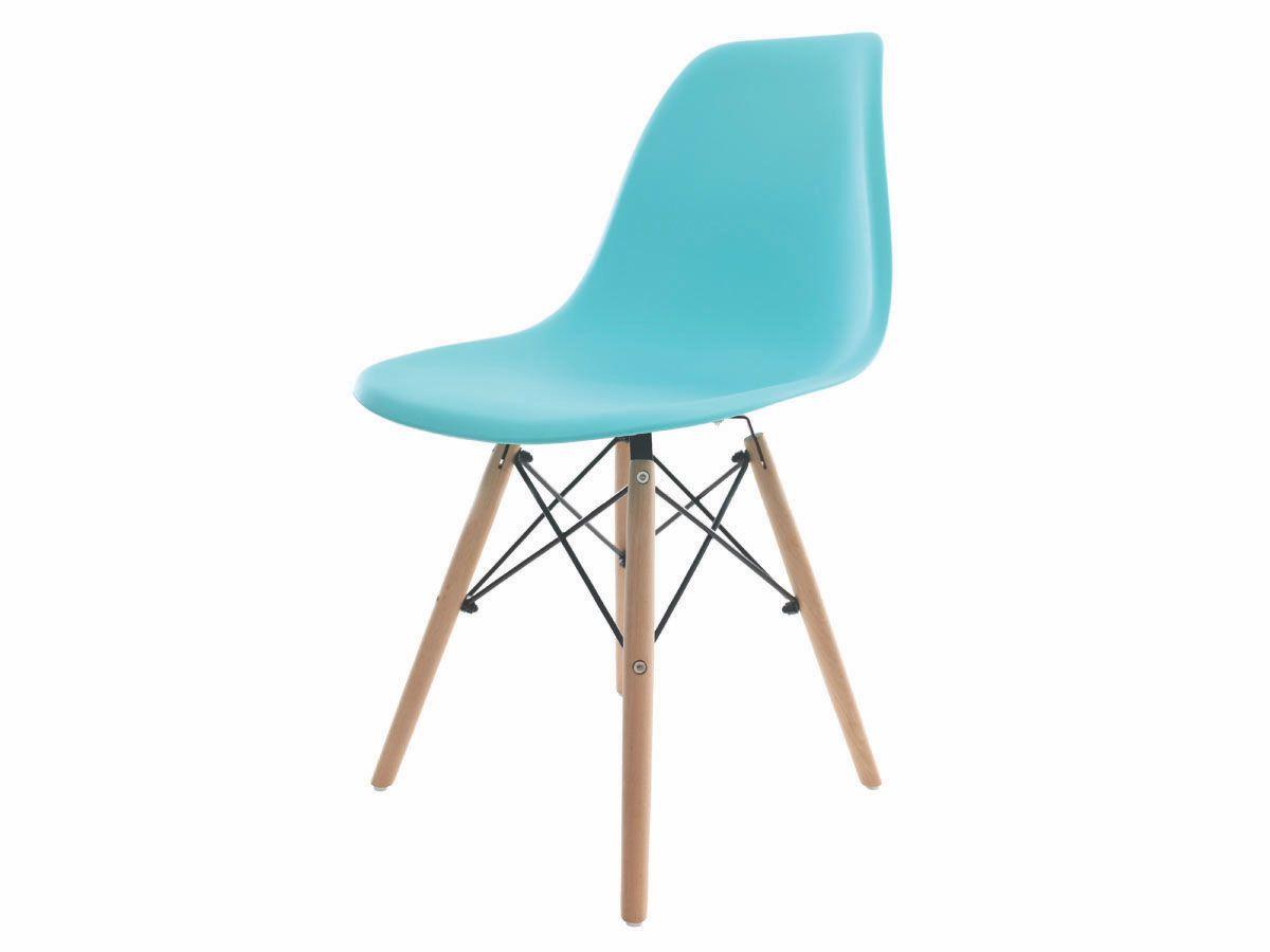 Kit 4 Cadeiras De Jantar Charles Eames Eiffel Tiffany Base De Madeira