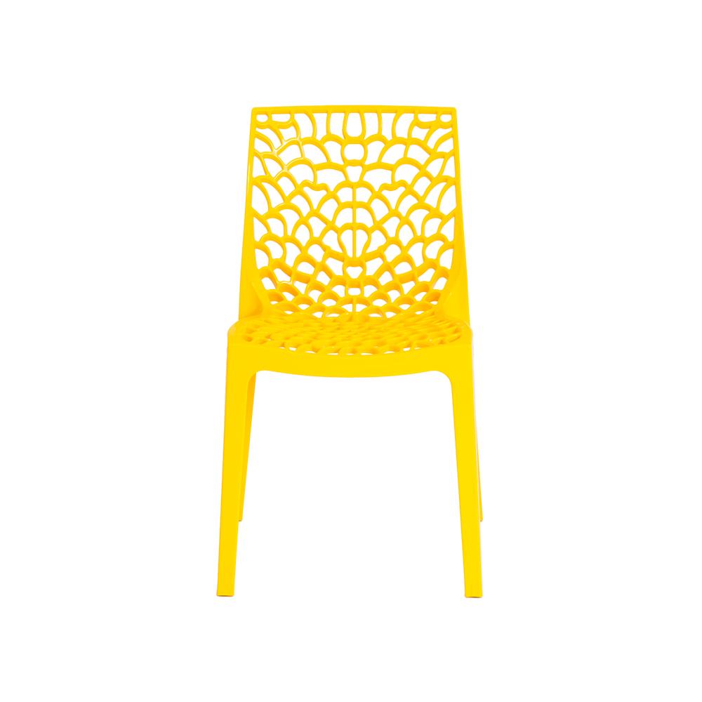 Kit 4 Cadeiras De Jantar Gruvyer Design Amarelo Com Inmetro