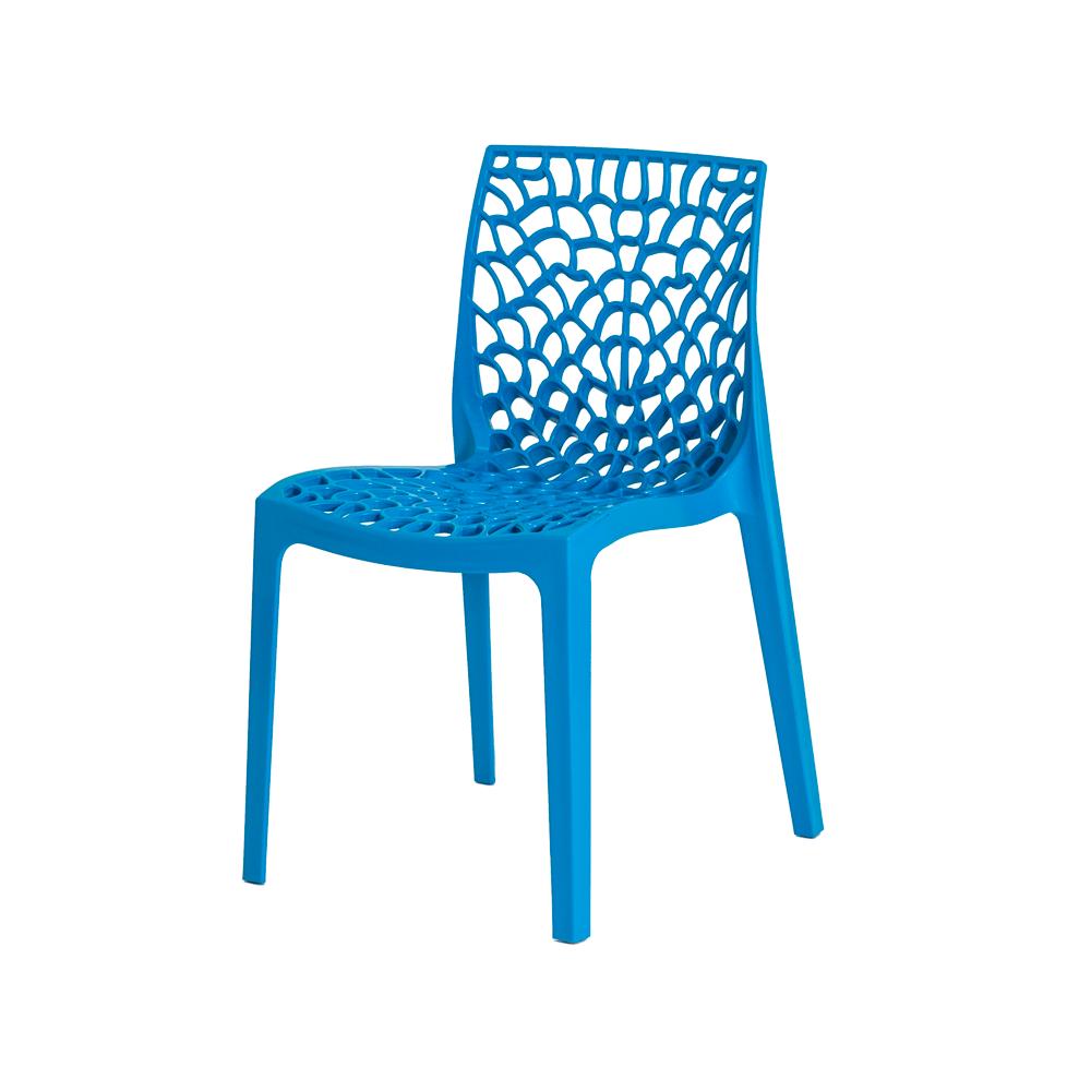 Kit 4 Cadeiras De Jantar Gruvyer Design Azul Com Inmetro
