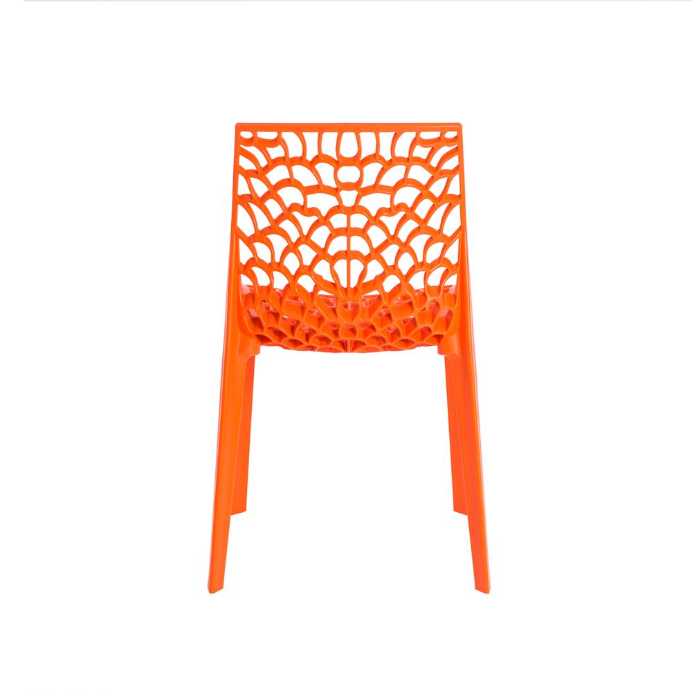 Kit 4 Cadeiras De Jantar Gruvyer Design Laranja Com Inmetro