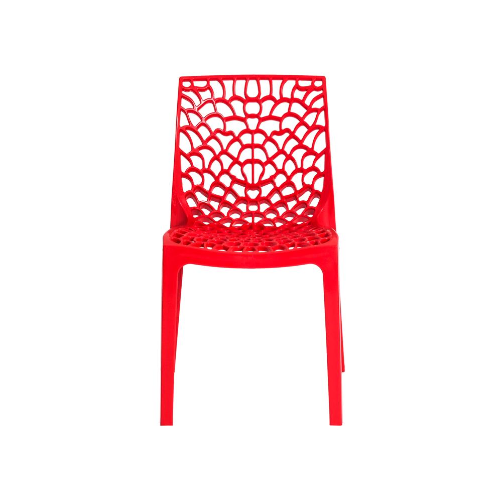 Kit 4 Cadeiras De Jantar Gruvyer Design Vermelho Com Inmetro