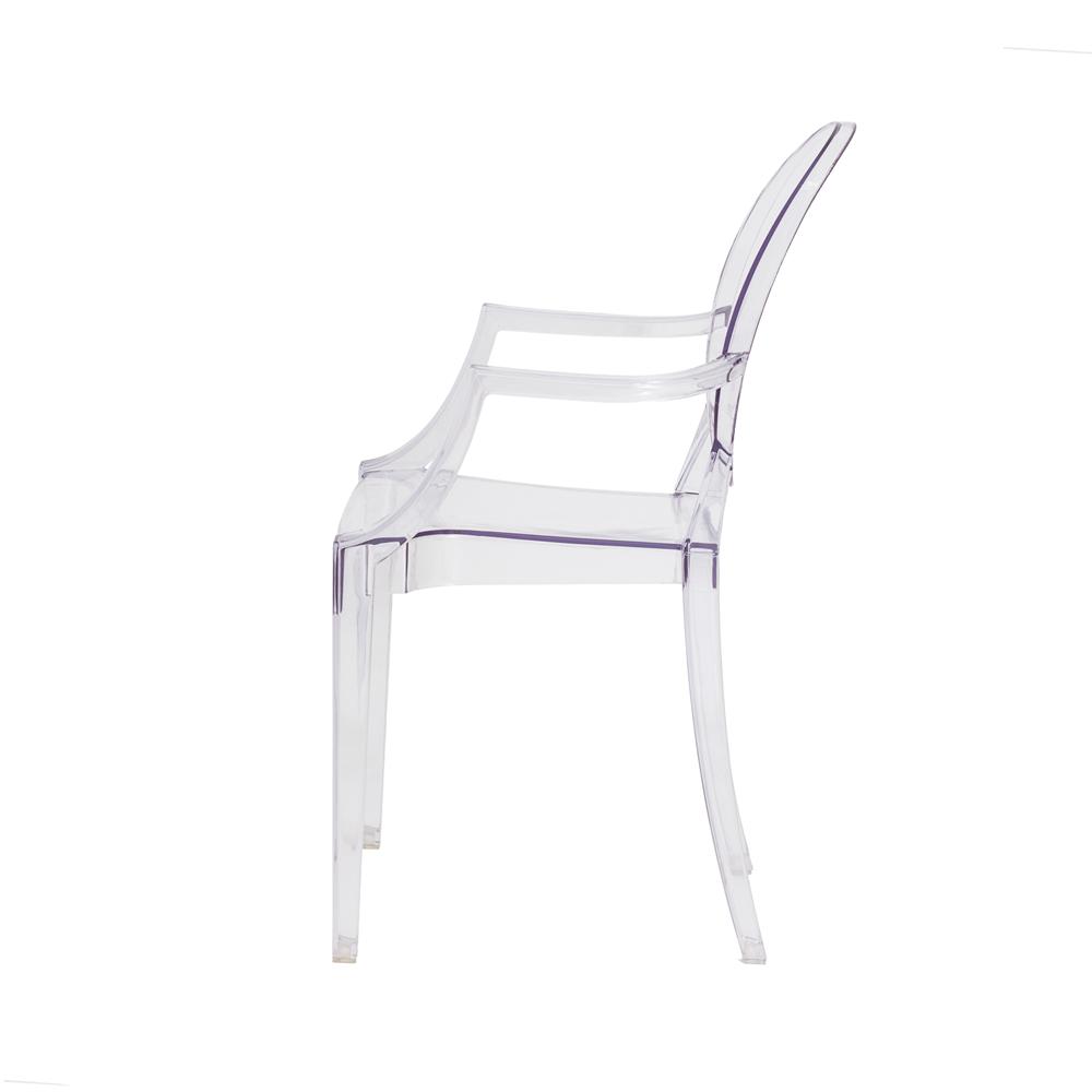 Kit 4 Cadeiras De Jantar Sofia Louis Ghost Com Braço Transparente