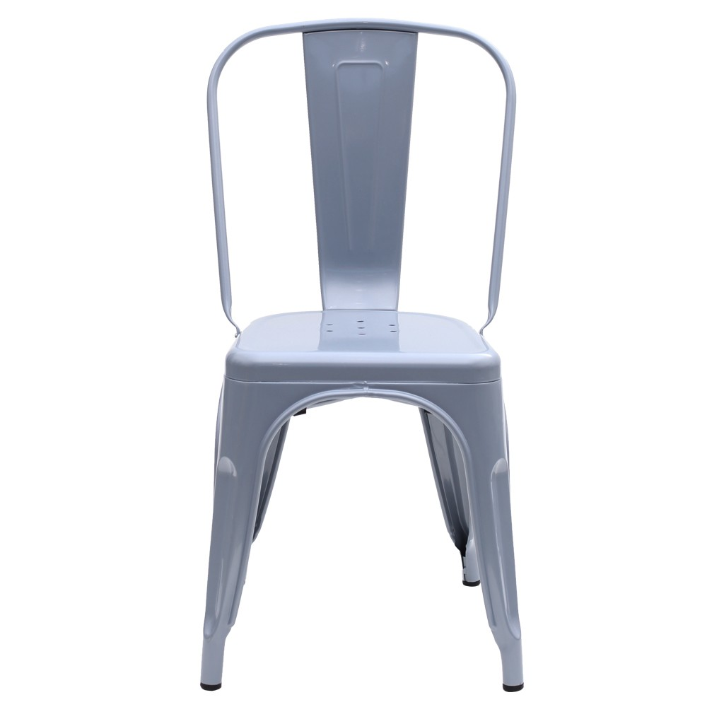 Kit 4 Cadeiras Tolix Iron Industrial Cinza