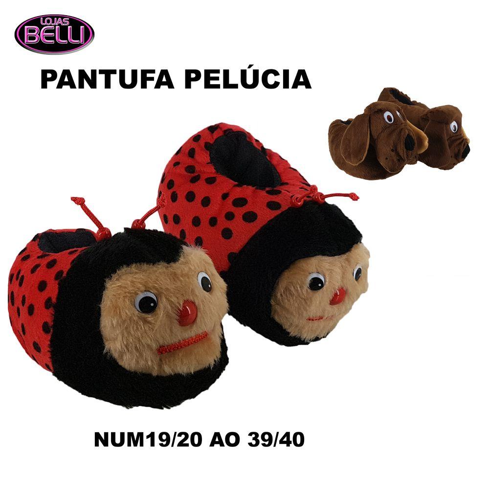 Pantufa Inverno Pelucia Bichinhos Adulto e Infantil Lojas Belli