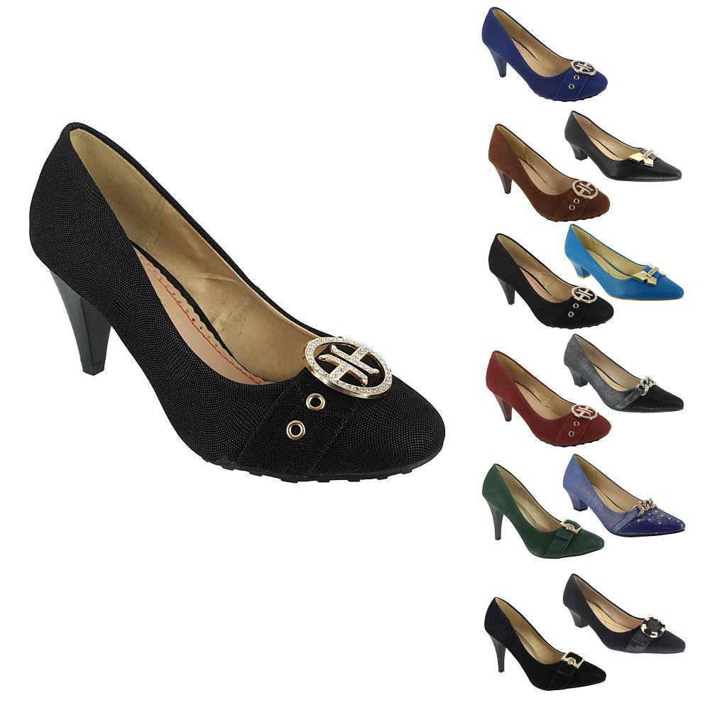 1c1aeca173 Sapato Scarpin Feminino com Salto Confortável Mooncity Fin Lojas Belli