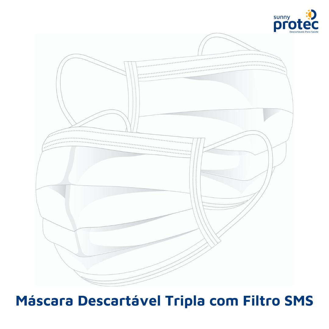 Máscara Tripla com Filtro