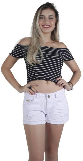 Shorts Sarja Barra Virada