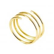 Anel de Ouro Amarelo Spiral