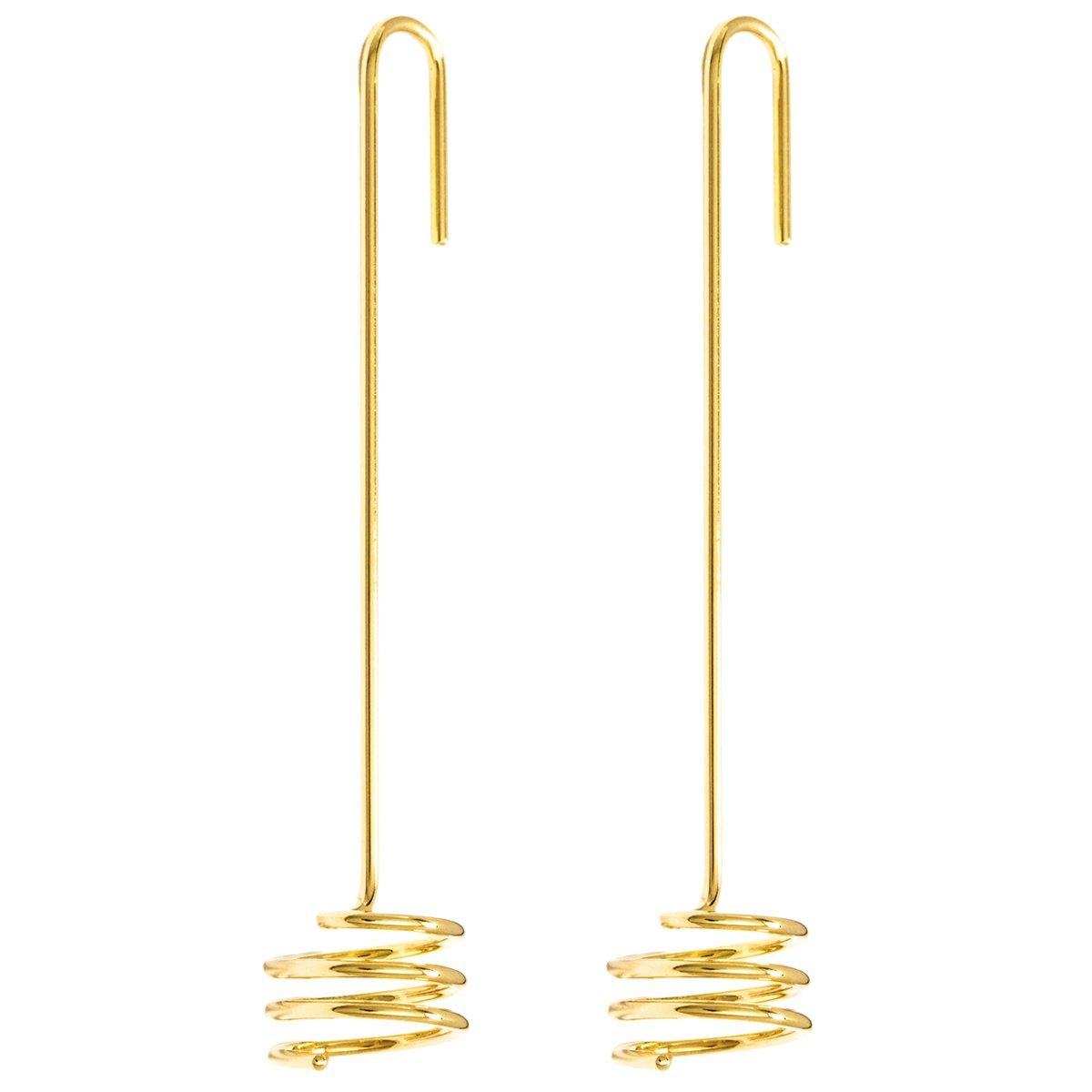 Brinco de Ouro Amarelo Spiral
