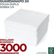 Guardanapo 24 - Folha Dupla - Dobra 1/4 - 24x22cm - 3000 Unidades - Scala Papéis