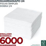 Guardanapo 24 - Folha Simples - Dobra 1/4 - 24x22cm - 6000 Unidades - Scala Papéis