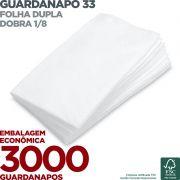 Guardanapo 33 - Folha Dupla - Dobra 1/8 - 33x33cm - 3000 Unidades - Scala Papéis