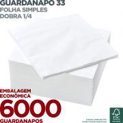 Guardanapo 33 - Folha Simples - Dobra 1/4 - 33x33cm - 6000 Unidades - Scala Papéis