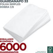 Guardanapo 33 - Folha Simples - Dobra 1/8 - 33x33cm - 6000 Unidades - Scala Papéis