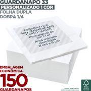 Guardanapo 33 Personalizado com 1 cor - Folha Dupla - Dobra 1/4