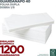 Guardanapo 40 - Folha Dupla - Dobra 1/8 - 42x40cm - 1200 Unidades - Scala Papéis