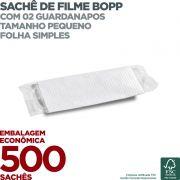 Guardanapo em Sachê de Filme BOPP Pequeno - 2 Guardanapos - Folha Simples - 23x19cm - 500 Sachês - Scala Papéis