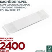 Guardanapo em Sachê de Papel Pequeno - 2 Guardanapos - Folha Simples - 22x19cm - 2400 Sachês - Scala Papéis