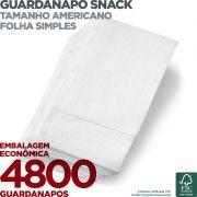 Guardanapo Snack Americano - Folha Simples - 20X33cm - 4800 Unidades - Scala Papéis