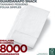 Guardanapo Snack Pequeno - Folha Simples - 20X16,5cm - 8000 Unidades - Scala Papéis