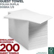 Guest Towel - Folha Dupla - Dobra 1/8 - 42x40cm - 200 Unidades - Scala Papéis