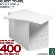 Guest Towel - Folha Dupla - Dobra 1/8 - 42x40cm - 400 Unidades - Scala Papéis