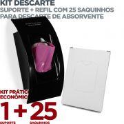 Kit Suporte Descarte para Absorvente Íntimo + Refil c/ 25 Saquinhos