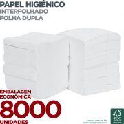 Papel Higiênico Interfolha Folha Dupla - 8000 unidades - Scala Papéis