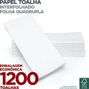 Papel Toalha Interfolha - Folha Quadrupla - 1200 Toalhas - Scala Papéis