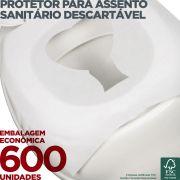 Protetor para Assento Sanitário Descartável - 600 Unidades - Scala Papéis