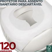 Refil Protetor para Assento Sanitário Descartável - 120 Unidades - Scala Papéis