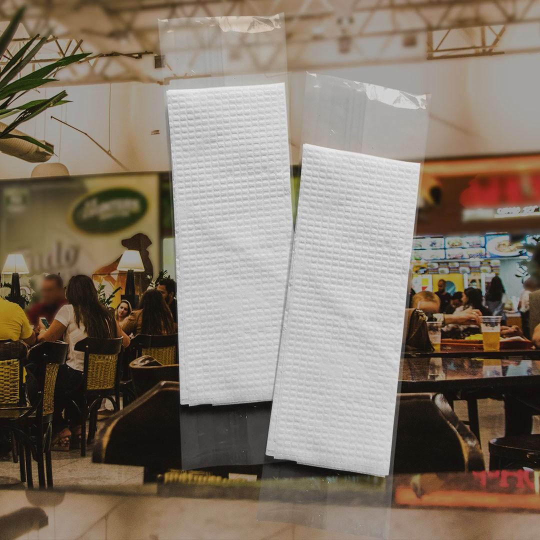 Guardanapos Sachê BOPP - Sachê BOPP com 2 Guardanapos Grandes - Folha Simples - 2000 Sachês  - Scalashop
