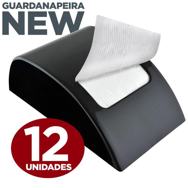 Guardanapeira New Preta - 12 unidades  - Scalashop