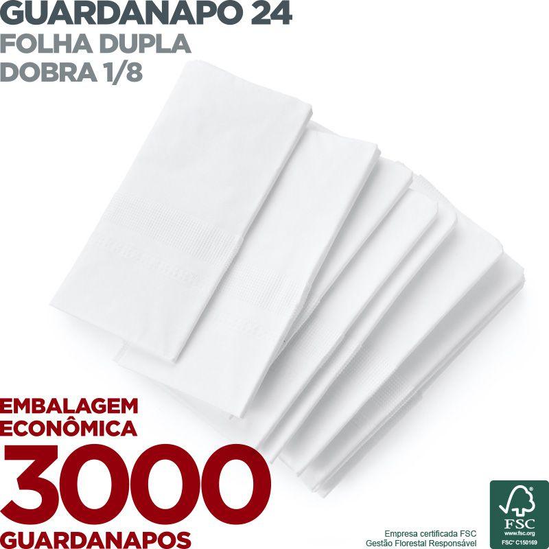 Guardanapo 24 - Folha Dupla - Dobra 1/8 - 24x22cm - 3000 Unidades - Scala Papéis  - Scalashop