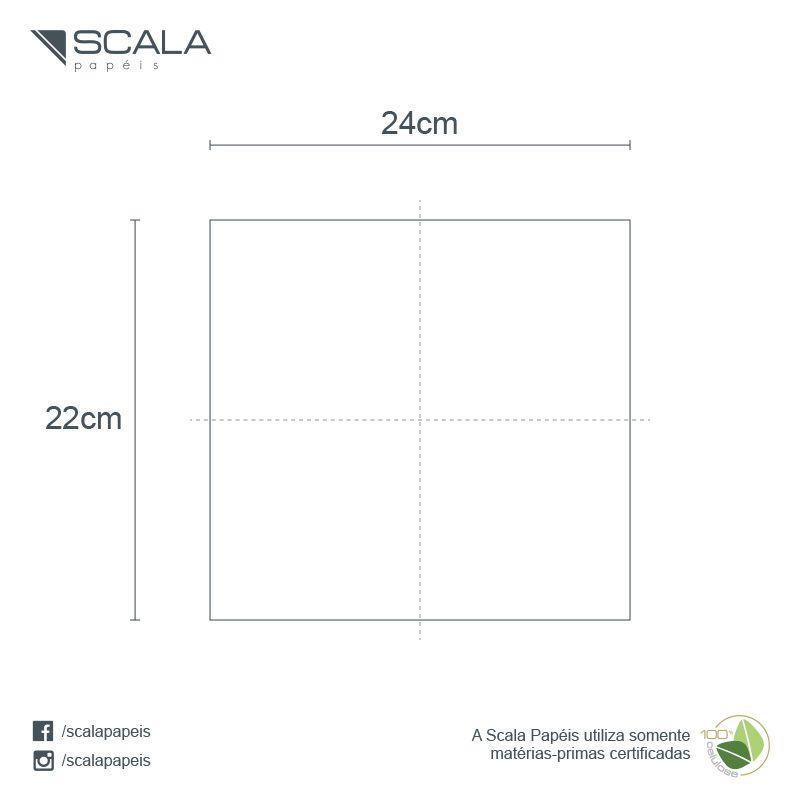 Guardanapo 24 - Folha Dupla - Dobra 1/4 - 24x22cm - 3000 Unidades - Scala Papéis  - Scalashop