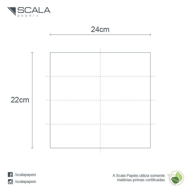 Guardanapo 24 - Folha Simples - Dobra 1/8 - 24x22cm - 6000 Unidades  - Scalashop
