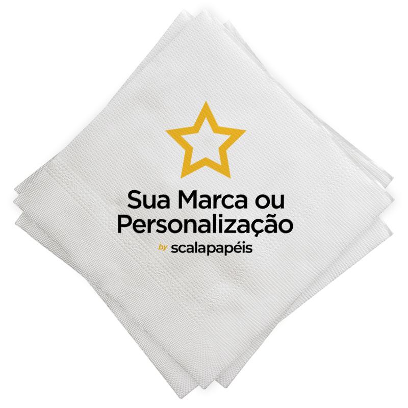 Guardanapo 24 Personalizado - Folha Dupla - Dobra 1/4 - 24x22cm - 600 Unidades  - Scalashop