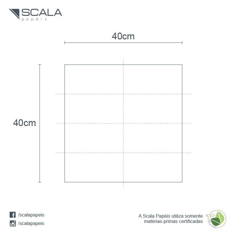 Guardanapo 40 - Folha Dupla - Dobra 1/8 - 42x40cm - 1200 Unidades - Scala Papéis  - Scalashop