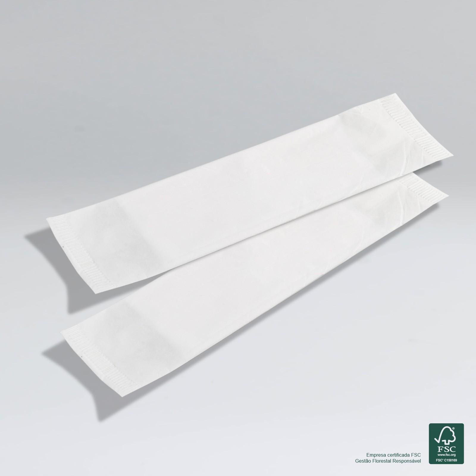 Guardanapo em Sachê de Papel - 2 Guardanapos Grandes - Folha Simples - 30x14cm - 2400 Sachês  - Scalashop