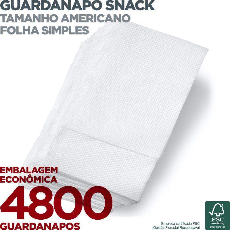 Guardanapo Snack Americano - Folha Simples - 20X33cm - 4800 Unidades - Scala Papéis  - Scalashop