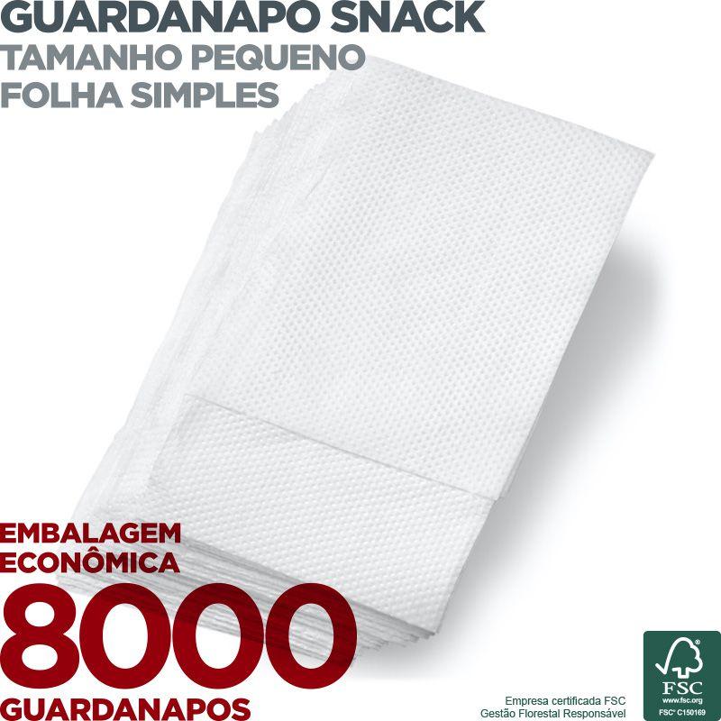 Guardanapo Snack Pequeno - Folha Simples - 20X16,5cm - 8000 Unidades - Scala Papéis  - Scalashop