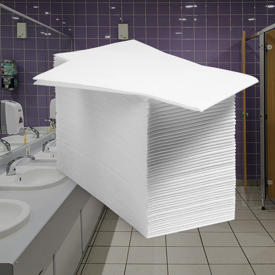 Guest Towel - Folha Dupla - Dobra 1/8 - 42x40cm - 400 Toalhas  - Scalashop