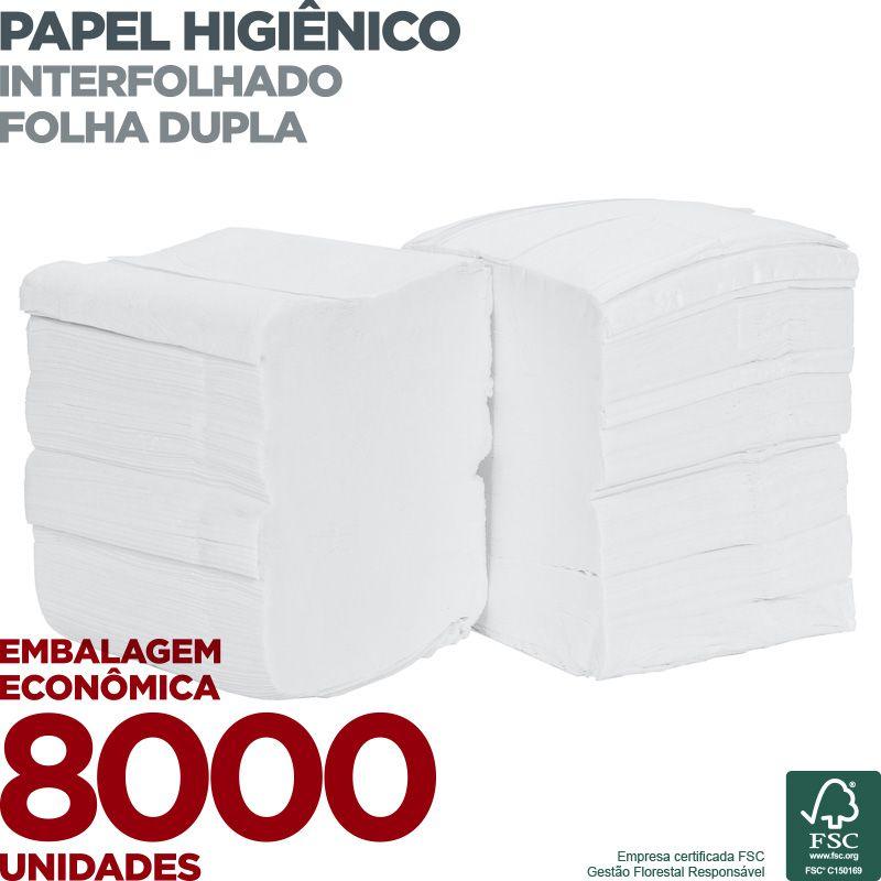 Papel Higiênico Interfolha Folha Dupla - 8000 unidades  - Scalashop